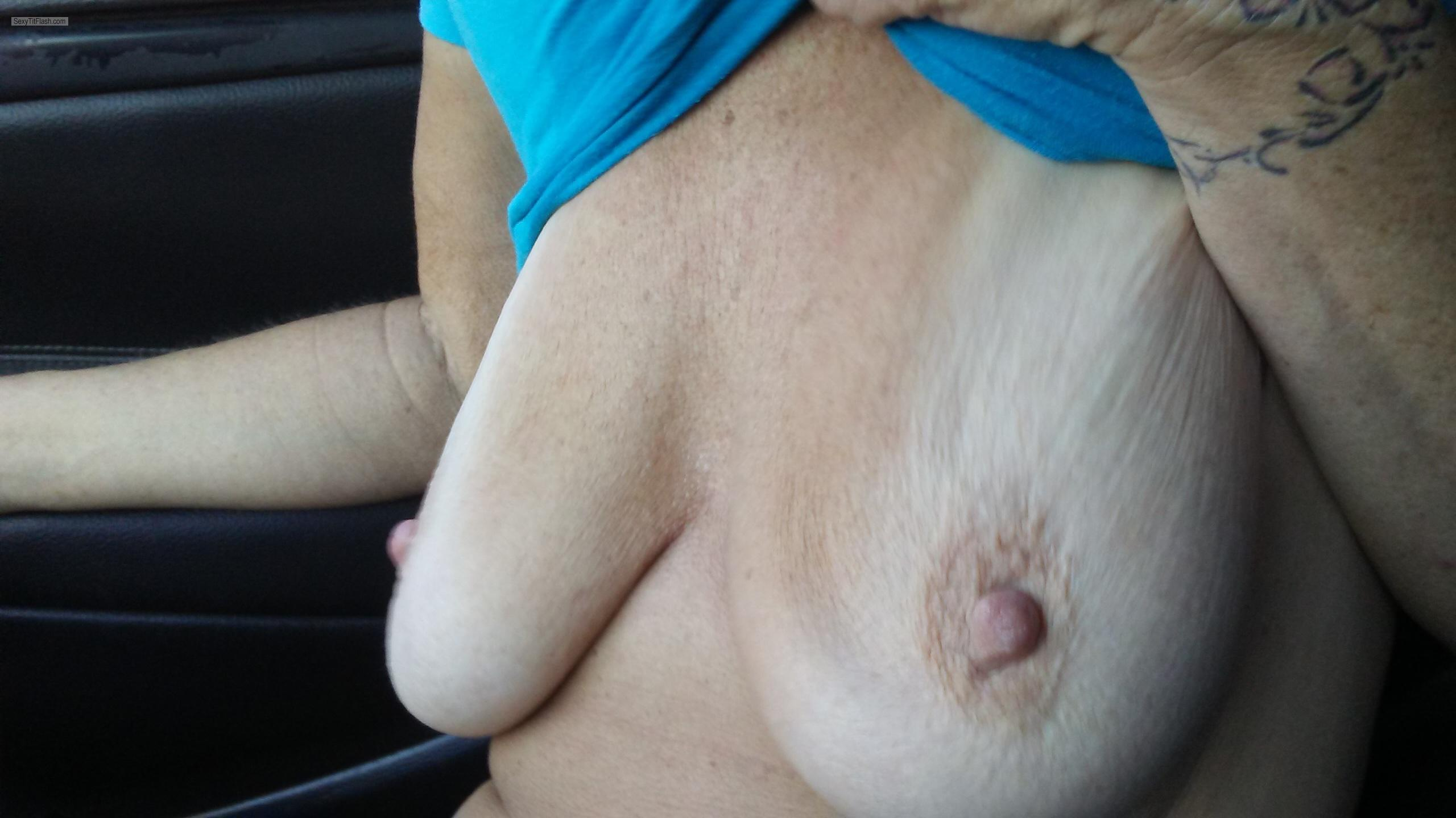 Tit Flash: My Friend's Big Tits - Kay from United States